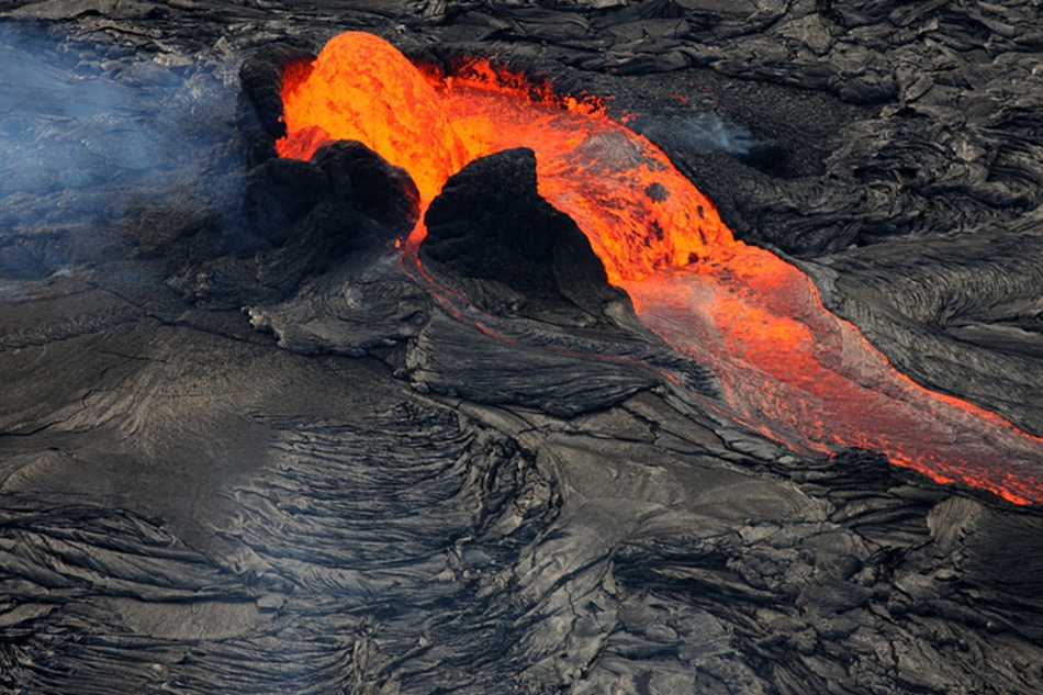 Kilauea vulkán, Hawaii.